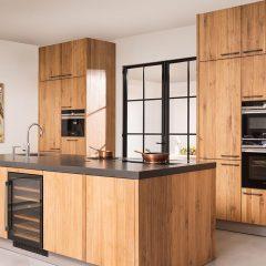 Een op maat keuken van eikenhout